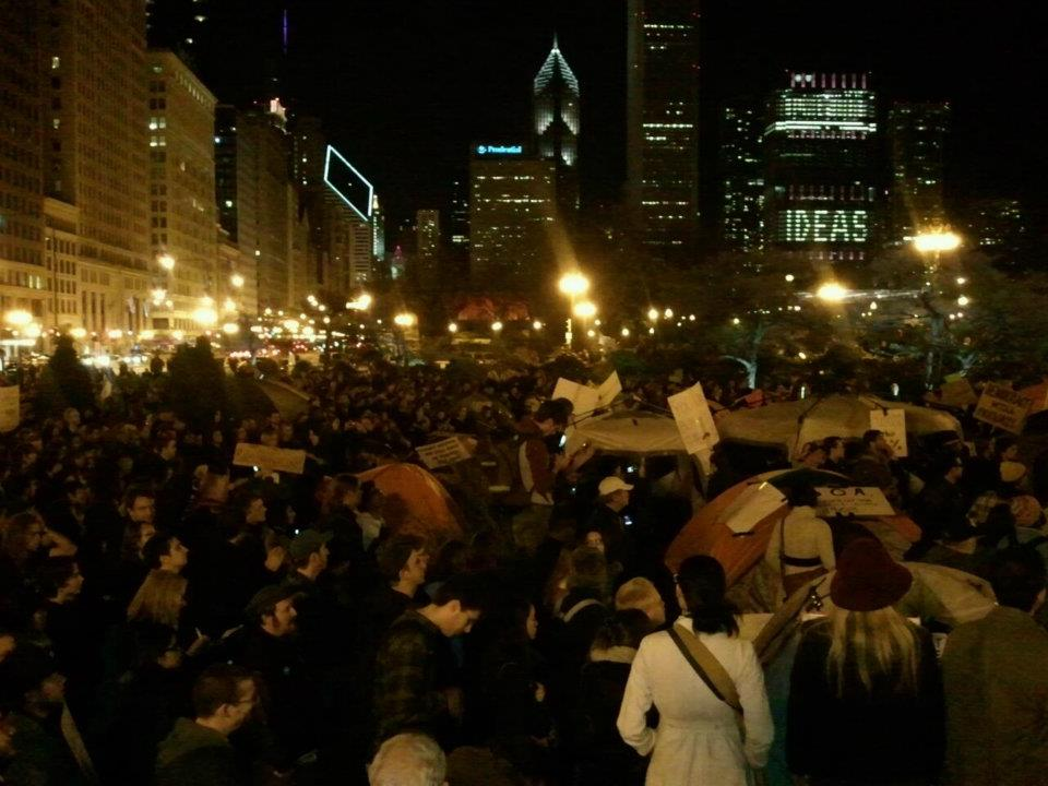 big thanks to the 130 people arrested at Occupy Chicago yesterday.